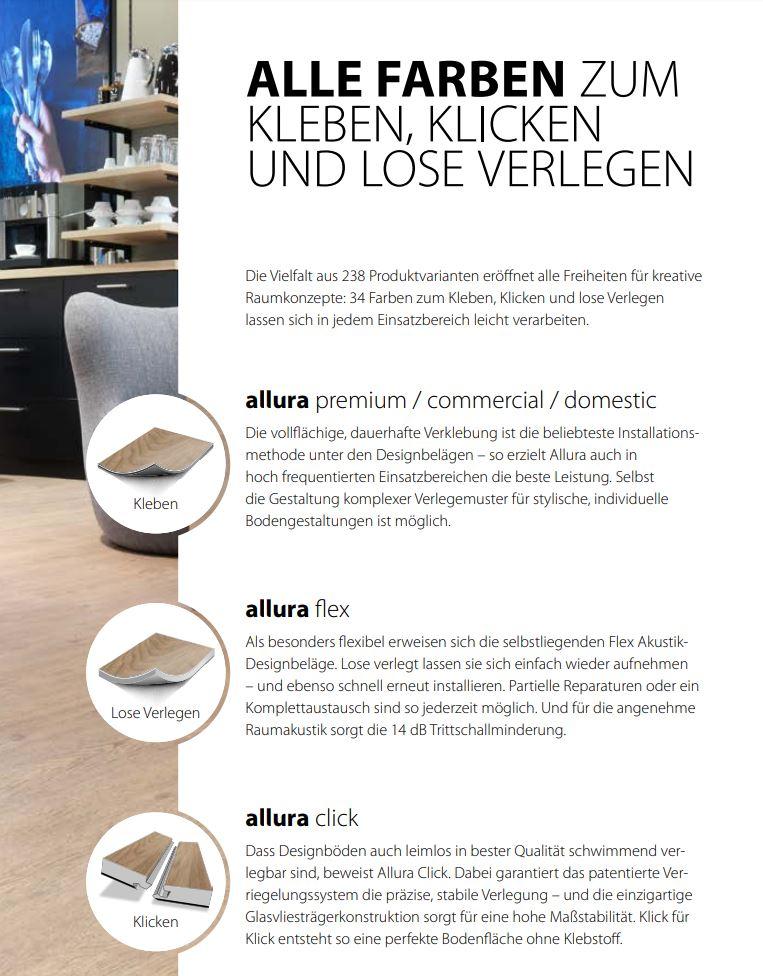 Forbo allura All-in-One Designboden zum Kleben Klicken oder selbstliegend