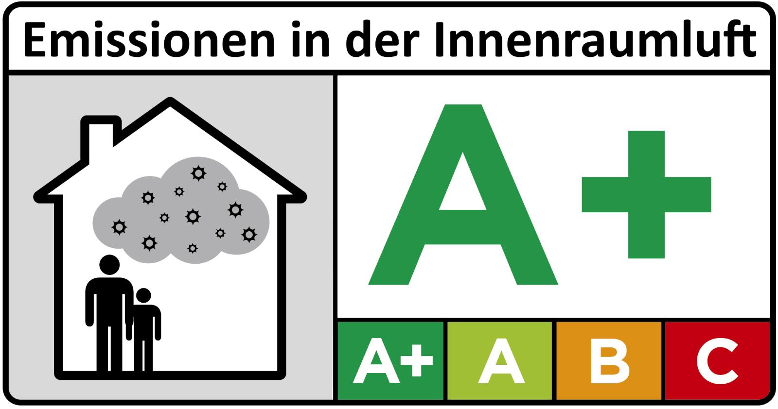 Emissionen in der Innenraumluft Klasse A+ für viele Rigid-Core Designböden